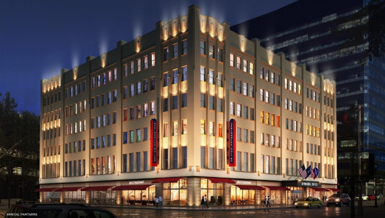 Rendering of the SpringHill Suites Milwaukee Downtown