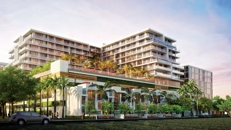 Rendering of the Aventura ParkSquare Development