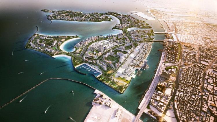 Deira Islands Aerial Rendering