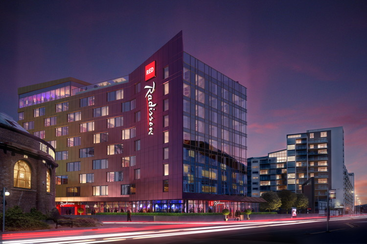 Rendering of the Radisson Red Hotel Glasgow
