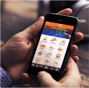 Screenshot ButlerPad application on a mobile phone