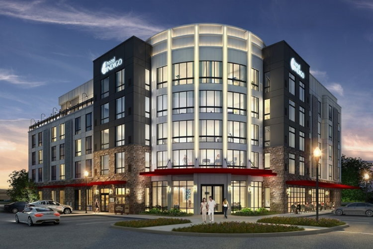 Rendering of the Hotel Indigo Tuscaloosa Downtown