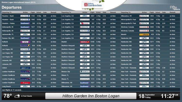 hilton garden inn boston logan airport installs flyteboard for fly away guest convenience - Hilton Garden Inn Boston Logan Airport