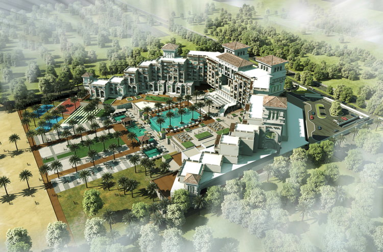 Rendering of the Hilton Awassa Resort & Spa, Ethiopia