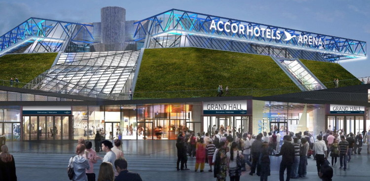 Rendering of the The AccorHotels Arena