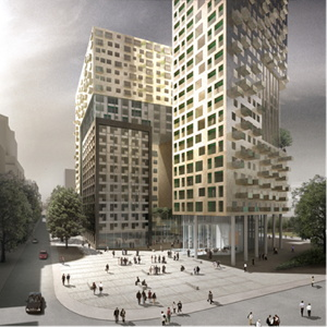 Rendering of the Lincoln Plaza London