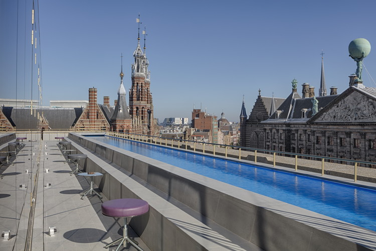 Rooftop Pool at the W Amsterdam Hotel