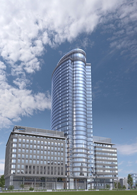 Rendering of the Radisson Blu Olympiysky Hotel Moscow