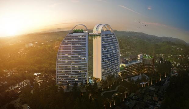 Rendering of the Innside by Meliá Hotel in Bandung Indonesia