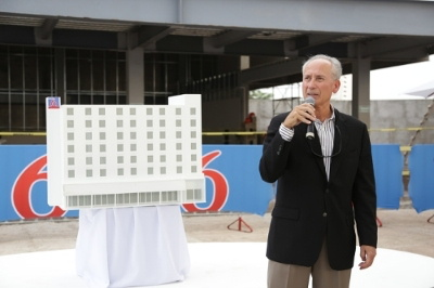 Jim Amorosia, President and CEO, G6 Hospitality during the ground breaking ceremony of the brand's second Estudio 6 located in Puerto Vallarta, Jalisco Mexico.