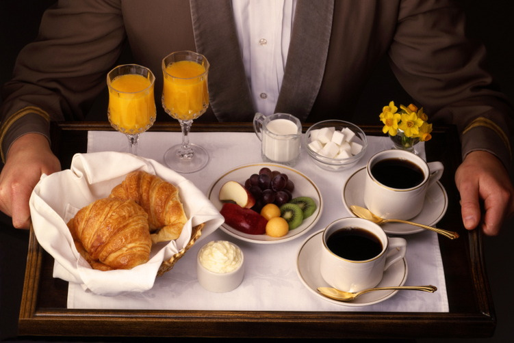Room Service Breakfast Tray