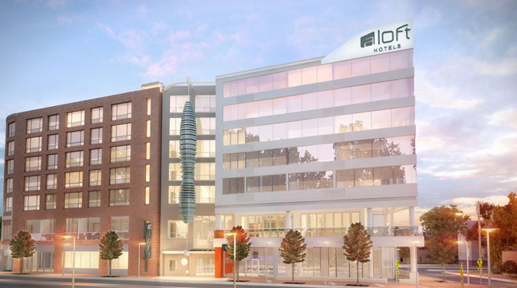 Rendering of the Aloft Raleigh Hotel