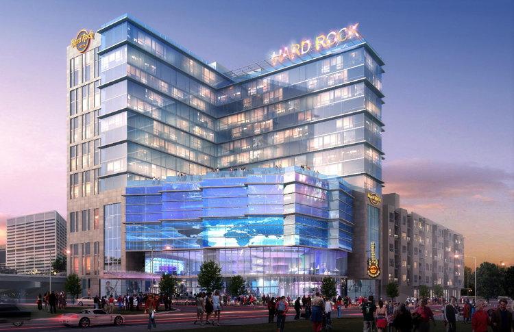 Rendering of the Hard Rock Hotel Atlanta