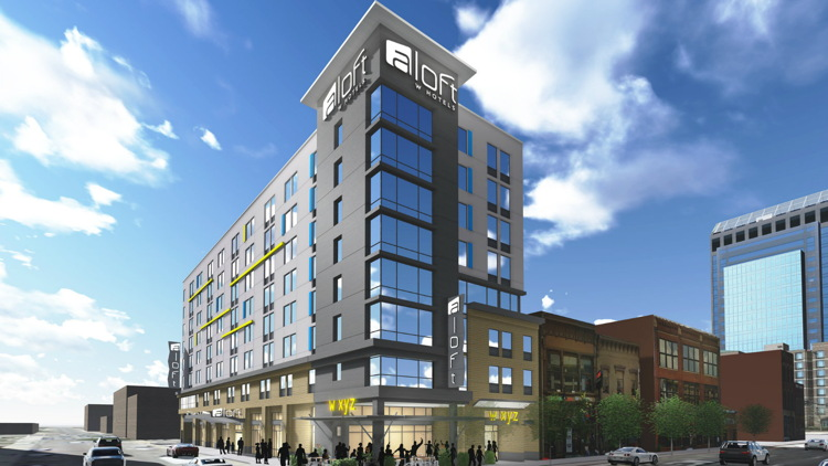 Rendering of the Aloft Louisville Downtown