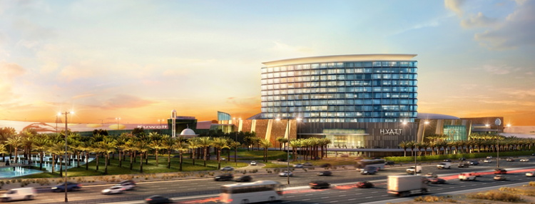Rendering of the Grand Hyatt Kuwait Hotel
