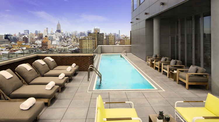 15th Floor Terrace At The Hotel Indigo Lower East Side New York