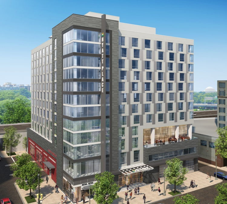 Rendering of the Hyatt Place Washington D.C./National Mall Hotel