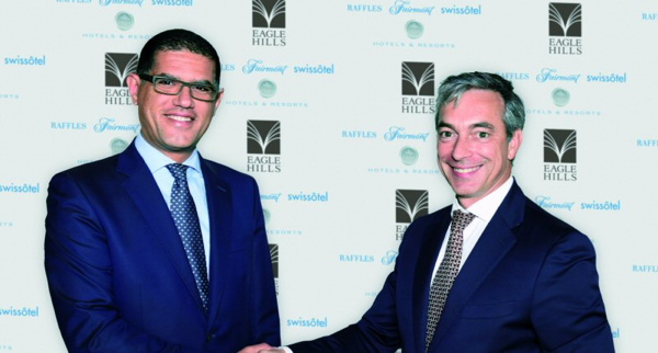 M'hammed El Merini, General Manager of Eagle Hills Morocco Properties and Francois Baudin - Senior Vice President, Development, Europe, Middle East & Africa at project signing event.