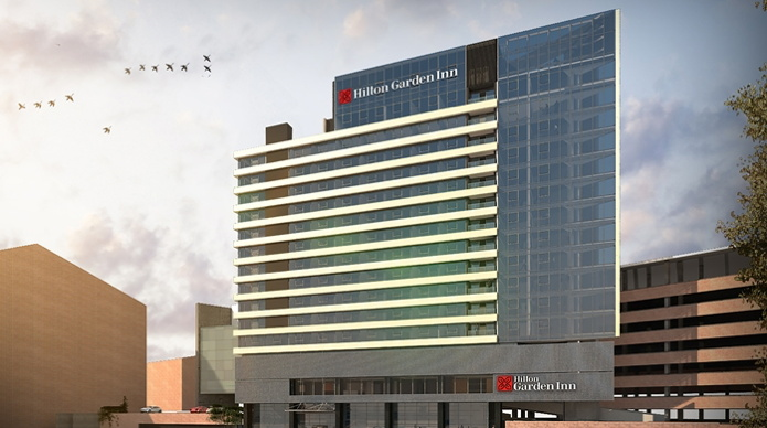 Rendering of the Hilton Garden Inn Montevideo