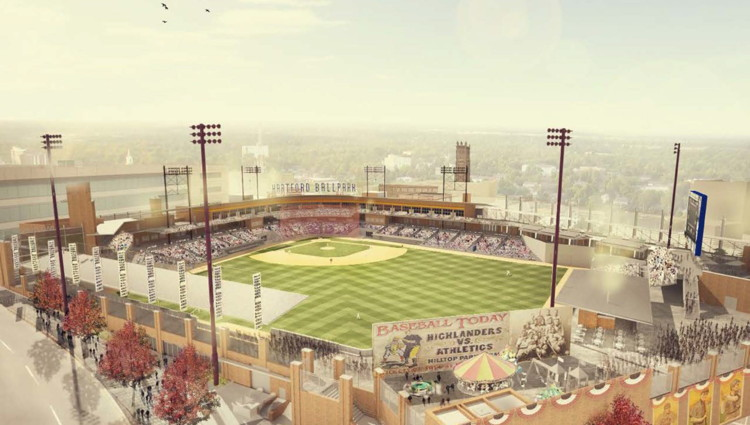 Rendering of the Baseball Stadium in Hartford's Downtown North (DoNo) neighborhood (Source: Hartford.Gov)