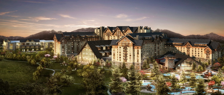 Rendering of the Gaylord Rockies Resort and Convention Center