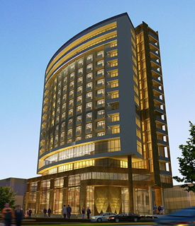 Rendering of the Radisson Blu Plaza Hotel Addis Ababa