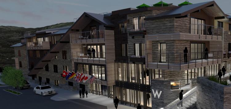 An exterior rendering of W Aspen