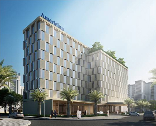 Rendering of the of a AmericInn Hotel and Suites