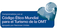 Promotional image for Global Code of Ethics for Tourism in Spanish
