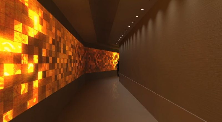 Digital wall at the Renaissance New York Midtown Hotel