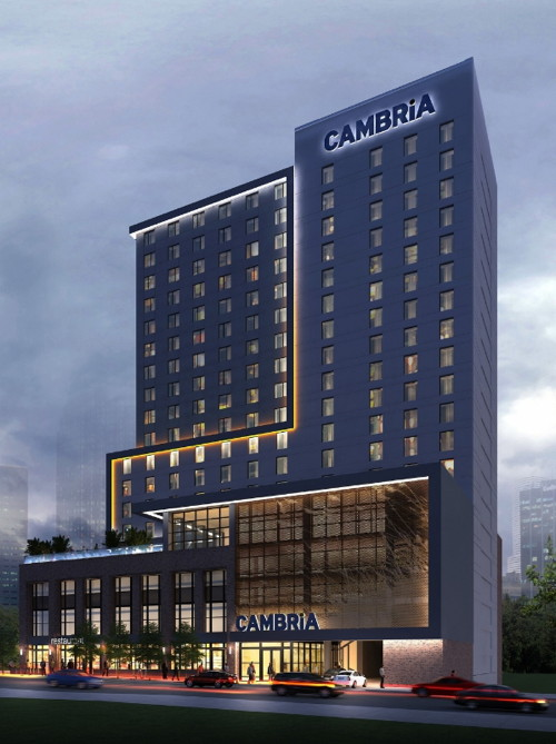 Rendering of the Cambria Nashville Hotel