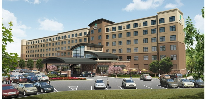 Rendering of the Embassy Suites by Hilton Akron Canton Airport