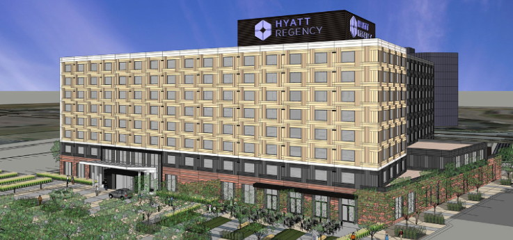 Rendering of the Hyatt Regency Bloomington-Minneapolis