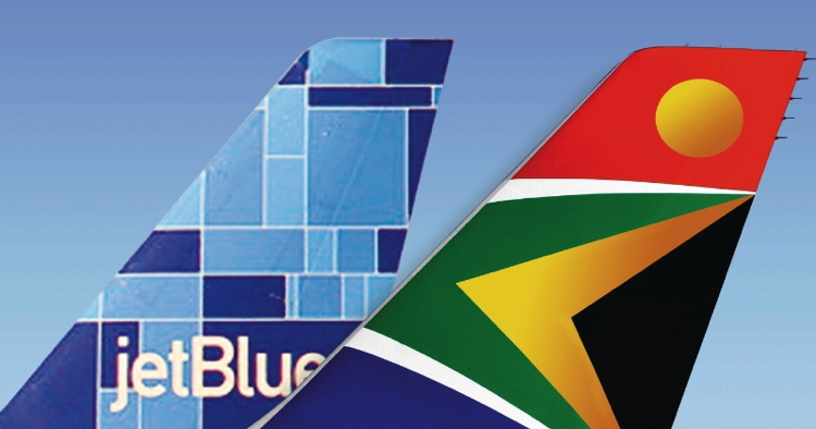 South African Airways And JetBlue Airways Expand Code Share