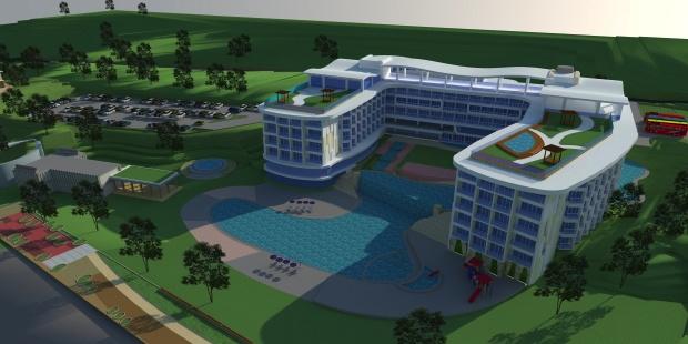 Rendering of the Melia Bintan Hotel