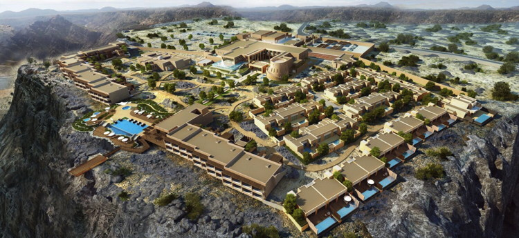 Rendering of the Anantara Al Jabal Al Akhdar