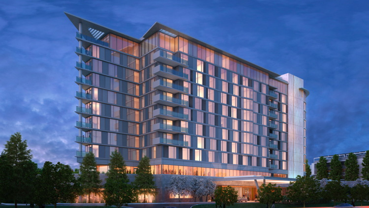 Rendering of the 250 Room Autograph Collection Hotel in Silicon Valley