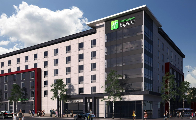 Rendering of the Holiday Inn Express & Suites Oshawa Downtown Hotel