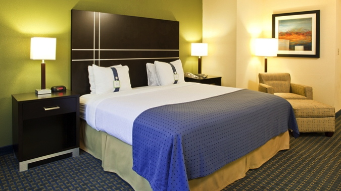 Guest room at the DoubleTree by Hilton Boston-Rockland Opens