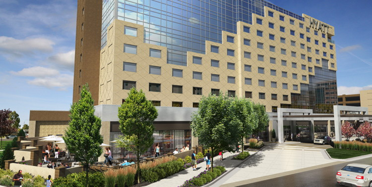 Rendering of the Hyatt Regency Aurora-Denver Conference