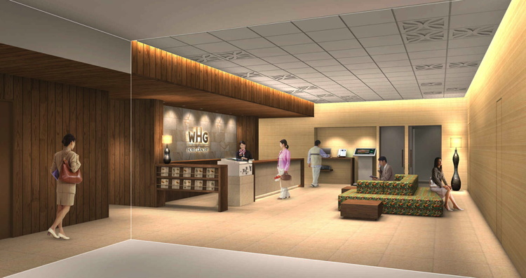 Rendering of the Hotel Gracery Naha Lobby