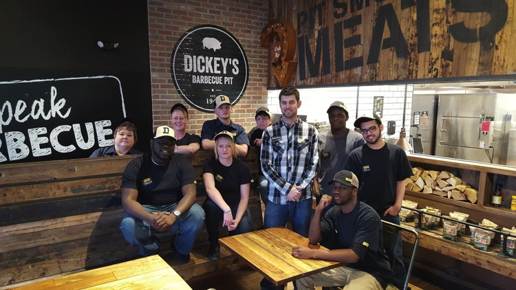 Brandon McBrier and his team open Dickey's Barbecue Pit in Erie, PA on Thursday, April 7
