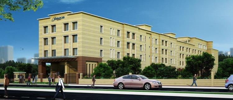 Rendering of the Oaks Bodhgaya Hotel