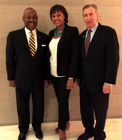 Pictured (l-r) Hon. Obie Wilchcombe, Minister of Tourism, Islands of The Bahamas; Joy Jibrilu, Director General, Bahamas Ministry of Tourism, and Frank Comito, CEO and Director General, Caribbean Hotel and Tourism Association, CHTA.