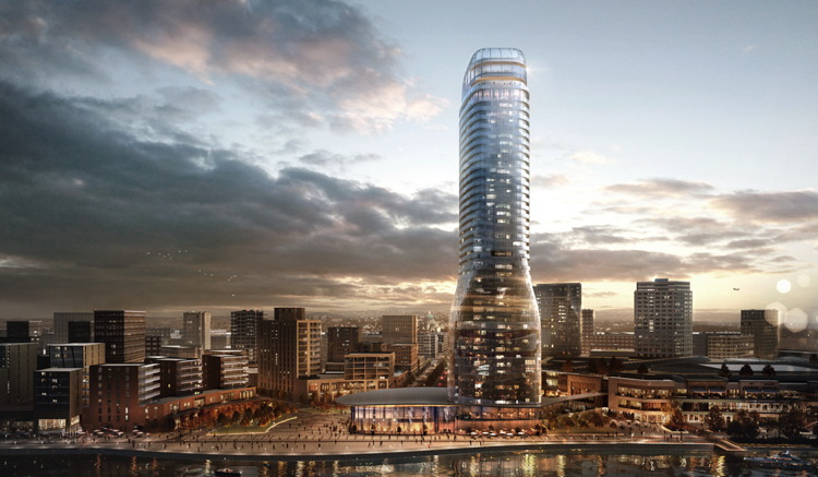 Rendering of Kula Belgrade building which will house The St. Regis Belgrade and The Residences at The St. Regis Belgrade