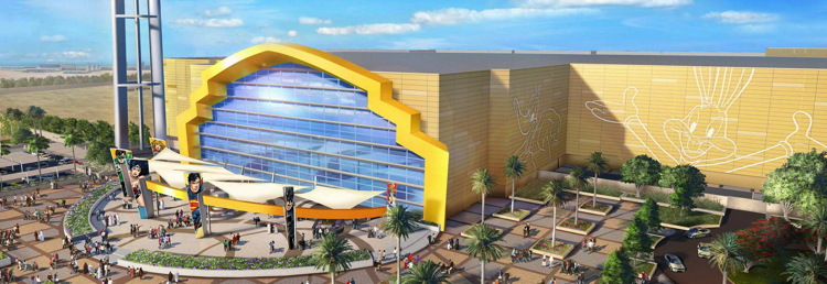 Rendering of the Warner Bros. World Abu Dhabi Theme Park