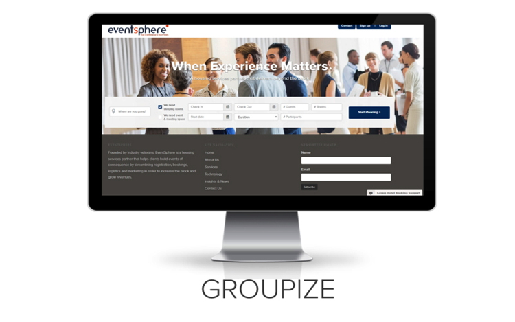Groupize Screenshot on a computer screen