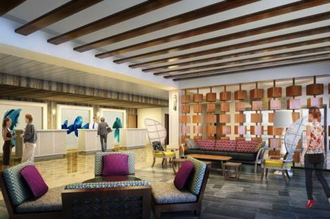 Rendering of the lobby at Warwick Paradise Island Bahamas