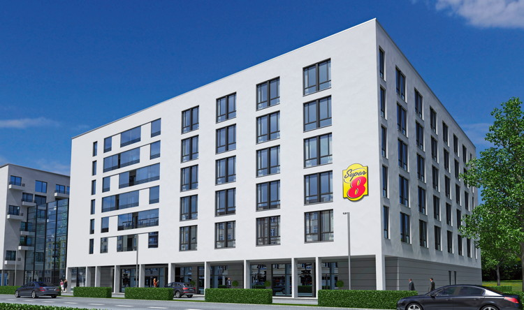 Rendering of the Super 8 Munich City West