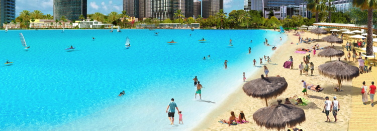 Rendering of the Crystal Lagoons concept
